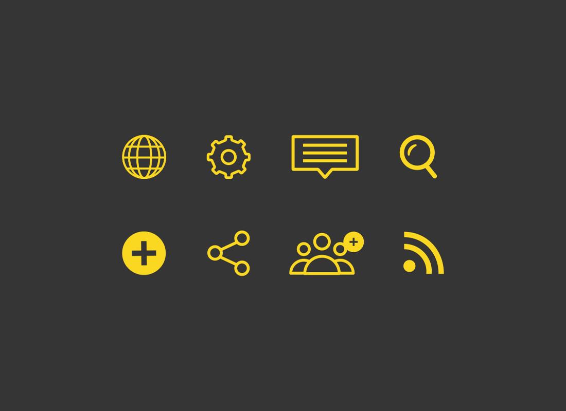 Icon set designed for Calhoot brand identity