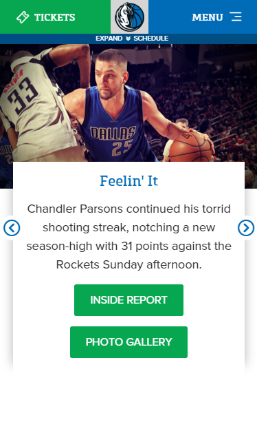 DallasMavericks_MobileHomepage