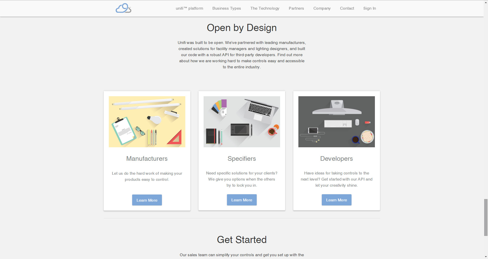 Nimbus9_MaterialDesignHomepage