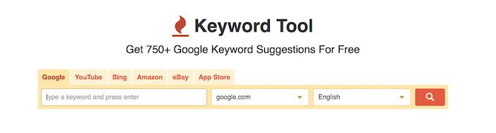 Screenshot of Keyword Tool | Square 205 | Denton, TX